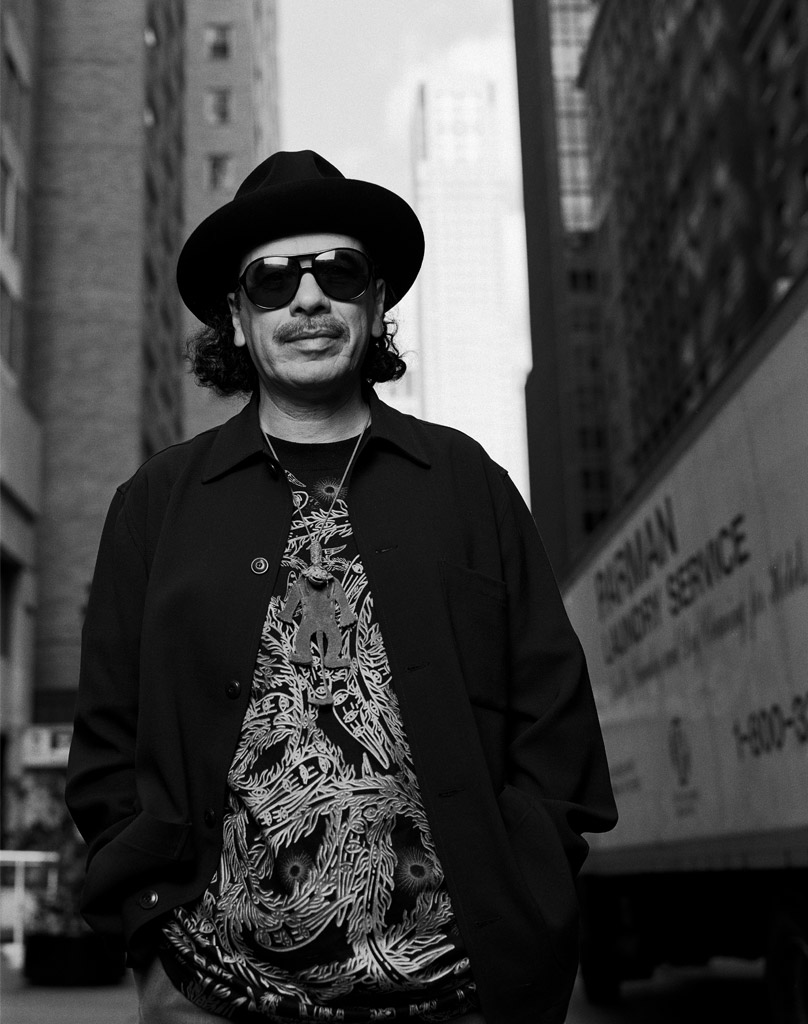 CARLOS SANTANA in NEW YORK CITY
